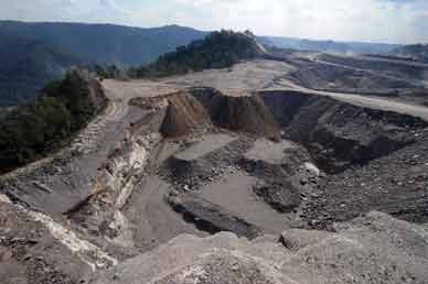 A mountaintop removal coal-mining site at Kayford Mountain, West Virginia AP PHOTO/JEFF GENTNER